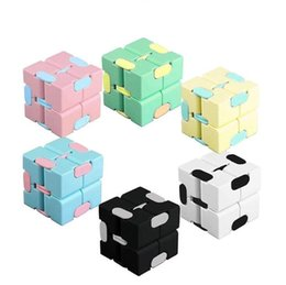 Wholesale infinity designer resale online - DHL fast Infinity Cube Candy Color Fidget Cube Anti Stress Cube Finger Hand Spinners Fun Toys For Adult Kids Adhd Stress Relief Toy