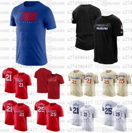 iverson t shirts NZ - Men Basketball Fans Tops Tees Philadelphia