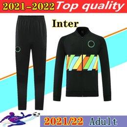 2021 2022 INTER FOOTHION TOOK TOOKSUIT LUKAKU Футбольный костюм Chandal Futbol 20 21 22 Lautaro Barella Vidal Alexis Swieter Куртки толстовка Jogging на Распродаже
