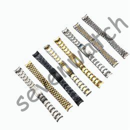 venda por atacado Watchband GMT SUB DATEJUST Daydate original 19mm relógio banda pulseira completa pulseira de aço curvado end watch acessórios homem watchstrap atacado