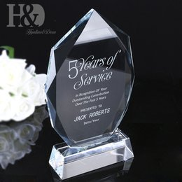 ingrosso maestro mestiere-HD Personalizzato Creativo Trophy Trophy Lettering Premio Incisione gratis Incisione Vetro Souvenir Craft Home Ornamenti Decor Master Color Expert