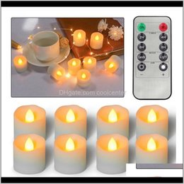 remote control tea light candles Canada - Candles Décor Home & Garden Drop Delivery 2021 Pack Of 12 Flameless 120 Hours Long Lasting Cr2450 Remote Control Led Candles,Fake Electric Pl