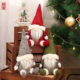 クリスマススウェーデンサンタGNOME豪華な人形の装飾品糸メンズグリニチクリスマスソックスクリスマスギフト結婚式キャンディーワインバッグ卸売