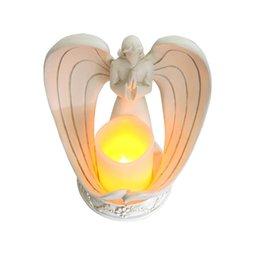 Северный стиль смолы ангела электронные подсвечники держатель гостиной церковные украшения на Распродаже