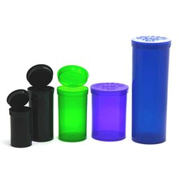 ingrosso fumo pop-19 DRAM Squeeze Pop Top Bottle Dry Herb Box Box Case Herb Container ermetica Impermeabile Caso di stoccaggio fumare Tabacco Tubi Stash Jar R2