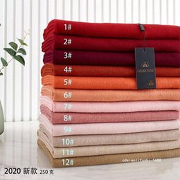 pashmina scarves for women UK - shawls products in autumn and winter song runsi pure color cashmere like scarf soft thickened warm simple fashion shawl for women