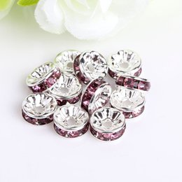 Loose Bead for European Bracelets Findings Mixed Multicolor Rhinestone Silver Plated Big Hole Crystal Zircon Beads Spacer 6Mm 8Mm10Mm 708 Q2 on Sale