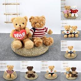 30 см, прибывающих милый мишка плюшевые мягкие игрушечные игрушки плюшевые плюшевые игрушки подарки для детей с свитером или кепки рождественские подарки на Распродаже