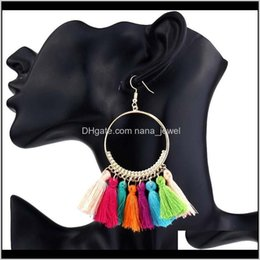 big ethnic jewelry Australia - Bohemian Ethnic Fringe Tassel Dangle Earrings For Women Large Big Round Long Statement Drop Earring Girls Fashion Boho Jewelry Gift Ku Syxjc