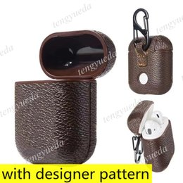 Fashion Designer Airpods Hüllen für Kopfhörer PRO 1 2 Hohe Qualität Fall Brief Gedruckt Hard Shell Protection Package Haken Taschen im Angebot