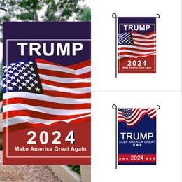 30*45cm Trump 2024 Flag MAGA KAG Republican USA Flags Anti Biden Never BIDEN President Funny Garden Campaign Banner G31701 on Sale