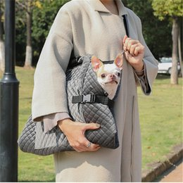 designer quilted bags UK - Carrier for Dogs Fashion Portable Dog Bag for Small Dogs Diamond Quilted Pet Carrier Blanket Soft Carrier Bag for Chihuahua York 210430