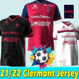Großhandel 21/22 Mailts Clermont Fuß 63 Fussball Trikots 2021 2022 Bayo Dossou Allewinah BERTHOMIER Magnin Iglesias Erzählen Sie nach Hause Dritter Jersey