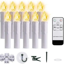 remote control tea light candles Canada - 10Pcs Led Candle Decoration Christmas Tea Light Flameless Flicker Candles Lamp Home Tree Remote Control Lighting