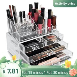 layer drawer box UK - Storage Boxes & Bins Transparent Makeup Organizer Box Display Lipsticks Jewelry Holder Multi-Layer Cosmetic Drawer Container