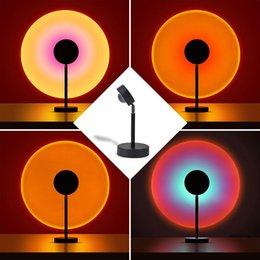 LED Sunset Lâmpada Arco-íris Projeção Iluminação Flash Heads em Promoção