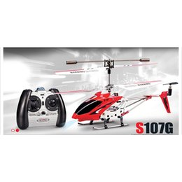 Wholesale Syma S107G IR 3-channel RC Single-blade Remote Control Helicopter Model Toys RTF 210325