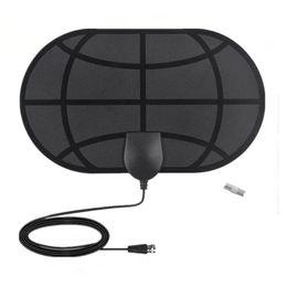 4K Digital HDTV Aerial Indoor Amplified Antenna 1180 Miles Range HD1080P DVBT2 Freeview TV HD TVantenna on Sale