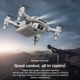 Wholesale Mini V9 aircraft folding remote control drone dual cameras 4K high definition aerial quadcopter kid toy gift