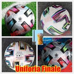 Wholesale Top quality 20 Euro Cup size: 4 Soccer ball 2021 Uniforia Finale Final KYIV PU size 5 balls granules slip-resistant football high