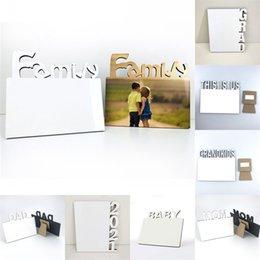 Sublimación en blanco Placa de fotos Alfabeto inglés DIY Álbum de fotos Decoraciones del hogar Amor / MOM / FAMILIA / 2021 Marcos de sublimación 591 V2 en venta