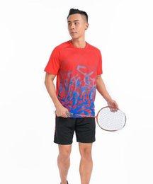 Vente en gros Port de Badminton pour homme, short de table de tennis de table, t-shirt de polyester respirant et à séchage rapide