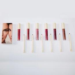 6色の化粧キットの液体マットの口紅の唇ライナーリップ光沢Liplinerマルチカラーリップグロス化粧品