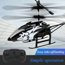 Wholesale 6 Styles Wireless Remote Control Alloy Aircraft Helicopter Toy Anti-collision 2 Channels With Box Gifts For Children And Adults 210325