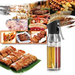 Wholesale 2-in-1 Oil Bottle Sprayer Kitchen Supplies Kitchen Dosage Oil Sprayer Seasoning Mist Bottle Dispenser Sea Ship CYZ3113