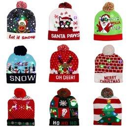 Рождественские украшения Поставки Светодиодные Шляпы Взрослые Дети Вязаные Шапки Красочные Светящиеся Высококачественные Шляпы Halloween День святого Валентина и Новогодние подарки на Распродаже