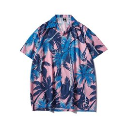 Wholesale hawaiian dress shirts for sale - Group buy Chao Brand Summer Men s Coconut Tree Printed Shirt Hawaiian Short Sleeve Dress Shirts