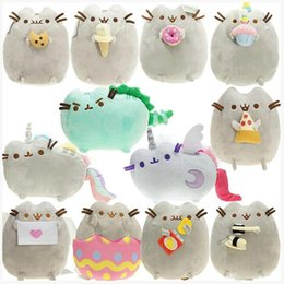 Discount plush toy dolls angels Cat Angel Cake Cookie Icecream Egg Pizza Doughnut Rainbow Sushi Dinosaur Dino Moon Cat 15CM Plush Doll Stuffed Best Gift Soft Toy