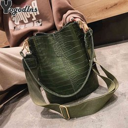 bucket bags designer NZ - Fashion Crocodile Crossbody Bucket for Women Large Capacity Designer Shoulder Bag Female Luxury Pu Leather Messenger Handbag