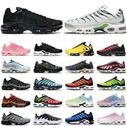 men women tn plus running shoes Triple Black White Volt Burgundy Olympic Hyper Blue Sky Worldwide Aqua Silver mens trainers outdoor sports sneakers Hiking