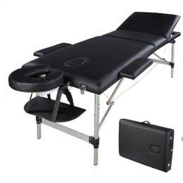 Lit de massage portable, meubles beauté du visage spa, 3 sections pliantes tube en aluminium, kit de table de bodybuilding kit mer bateau hwe9548 en Solde