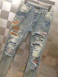 Jeans Rotos Parcheados Para Hombre Oferta Online Dhgate Com