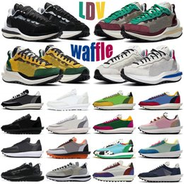 Wholesale pink tours for sale - Group buy 2021 waffle pegasus men women shoes fragment chunky dunky ldv Tour Yellow Villain Red white nylon mens womens trainers sports sneakers