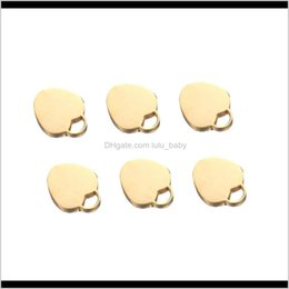 pendant blank heart 2021 - 50Pcslot 17X19Mm Polished Heart Shape Stainless Steel Blank Gold Silver Color Hearts Pendant Diy Necklace Jewelry Xkbbe Csnrq