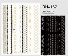 DHL Fashion Self-adhesive Sticker Decals Tips Manicure Nail Art Stickers Decoration 9 style on Sale
