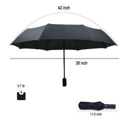 Pffyoutlets Små vikbara ryggsäck paraply för regn - män och kvinnor
