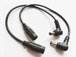 Cable de alimentación de CC en ángulo de 90 grados 5.5x2.1mm Cable de conector de extensión de enchufe de macho a hembra para cámara CCTV DVR / DHL gratuito / 200pcs en venta