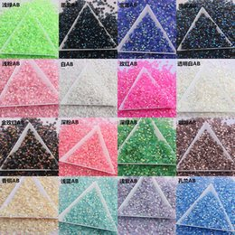 10000pcs Bag 4MM Color Jelly AB Resin Crystal Rhinestones 14 Section Imitation Austrian Nail Jewelry Stick Drill Decoration Beads 10ms Y2 on Sale
