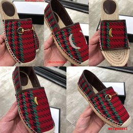 Wholesale red half slips for sale - Group buy 2021 Brand Women Sandals Luxurys Casual Shoe Espadrilles Summer Designers Classics Buckle Metal flat Beach Half Slippers fashion Loafers Fisherman Shoes