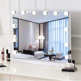 Опт Amazon горячий продавец 58 * 46см настольный голливудский зеркало с 15шт. Луковицы три цвета светло-тумок яркости