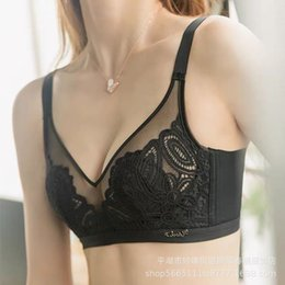 Wholesale beauty cups bra resale online - Wom Easy to Wear Beauty Gao Thin Sexy Lace Peacock Embroidery Crystal Cup Bra Set Colors
