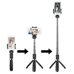 tripod Multi-function L01 Wireless Bluetooth Remote Extendable Selfie Monopods Stick Mobile phone stand holder 3 in 1 Camera for smartphone