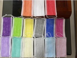 Stock!16 colors Disposable Face Mask retail packaging fashion designer Elastic Ear Loop 3 Ply Protective Breathable and Comfortable DHL on Sale