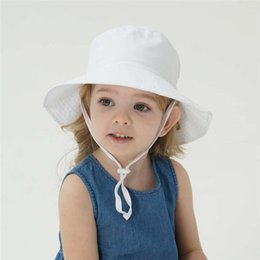 baby swim hats UK - Swimming cap Summer Baby Sun Hat Children Outdoor Neck Ear Cover Anti UV Protection Beach Caps Boy Girl Hats For 0-3Years