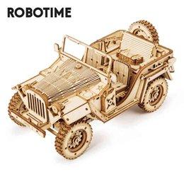 Опт Robotime 1:18 369 Ретро DIY подвижная 3D армия Jeep деревянные головоломки головоломки детская молодежная игрушка для взрослых игрушка MC701