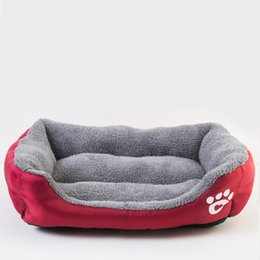 ingrosso mini pile-S XL Fleece Dog Bed Bed Treadn Impermeabile Bottom Pet Sofa Mat Caldo Dog Letti per cani per grandi cani Dropshipping Cama Perro S2